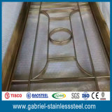 Tabique plegable del metal del panel del acero inoxidable 201