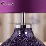 European Hotel Decorative Purple Ceramic Desk Lamp Lâmpada de mesa