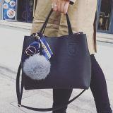 女性のための流行の女性のトートバックの財布はPUの愛らしいアクセサリSy8485が付いている革女性ハンドバッグを卸し売りする