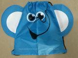 Sac de cordon fait sur commande, sac à dos dans le modèle d'éléphant