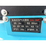 compresseur d'air d'entraîneur de pneu de pompe à main de 1800W 3HP 30L