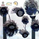 Vorzügliches Stickerei Peacook Endstück-Blumen-Spitze-Polyester-Gewebe-neuer Entwurf 135