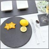 高品質の正方形の形の自然な夕食のスレートの版