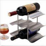 Carrinho dos suportes do armazenamento de cremalheiras do frasco de vinho vermelho da barra dos frascos do aço inoxidável 9 da onda