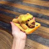 Шерсти мягкий TPU плюша шаржа 3D случай телефона пушистой с мягкой крышкой кабеля на iPhone 6
