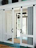 Interruption UPVC bon marché en aluminium de Canyu glissant la porte de toilette à vendre