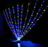 Decorazioni ottiche di illuminazione LED della fibra di natale