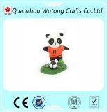樹脂のフットボールのパンダの置物走行項目表の装飾
