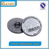 Botón de costura del metal de encargo de la aleación con las líneas para la ropa