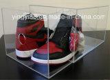 Boîte à chaussures en acrylique clair de grande taille avec tiroir à glissière