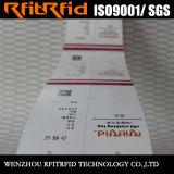 860-960MHz etiqueta engomada impermeable de la etiqueta del rango largo RFID para el paño