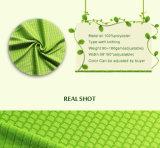 100%年のスポーツ・ウェアのためのポリエステルによって編まれる網の蜜蜂の巣の純ファブリック