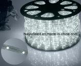Luz de la cuerda del LED/luz de tira al aire libre de Light/LED/luz de neón/luz de la Navidad/luz del día de fiesta/luz del hotel/tira azul del color 25LEDs el 1.6W/M LED de los alambres ligeros del redondo dos de la barra
