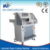 (Wd-520R) de programma-Controle van 80mm de Hydraulische Scherpe Machine van het Document