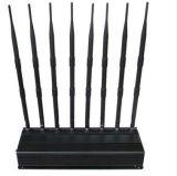 Pouvoir de 8 antennes de bande brouilleur mobile réglable de signal de long