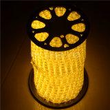 제조 4 철사 크리스마스 훈장을%s 가진 편평한 LED 밧줄 빛