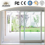 Porte coulissante des prix d'usine de qualité de la fibre de verre UPVC de bâti en plastique bon marché de profil avec le gril à l'intérieur