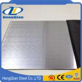 Hoja de acero inoxidable aplicada con brocha rayita decorativa 4X8 de la categoría alimenticia AISI 304 con precio azul del PVC