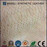 Couro de pele de alta qualidade Snake PVC
