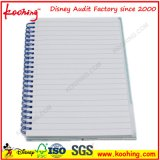Impressão feita sob encomenda do logotipo da companhia que anuncia o bloco de notas/o livro/caderno espirais da bobina
