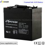12V 55ah nachladbare VRLA tiefe Schleifemf-Batterie für Solar