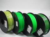 filamento plástico 3D del PLA del color verde de 1.75m m para la impresora de DIY 3D