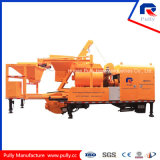 Pompa per calcestruzzo montata camion d'ammucchiamento concreta mobile versatile del miscelatore gemellare dell'asta cilindrica della pianta di fabbricazione della puleggia con Batcher (JBC40-L)