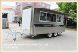 Abastecimiento caliente Van del acoplado del carro del alimento de la venta de Ys-Fv450e