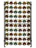 Moderner Flaschen-Wein-Zahnstangen-Wein-Ausstellungsstand des Metall60 für Speicherung