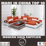 Modernes populäres u-Form-Wohnzimmer-Leder geschnitten