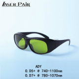 Gli occhiali di protezione del laser Ady con Ce proteggono la lunghezza d'onda 740 - 1100nm per Alexandrite, i diodi di 755nm/1064nm 808&980nm, ND: YAG
