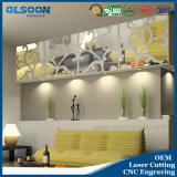 Olsoon Customized Wanddekoration Acryl Spiegel Innenwand-Deko-Material