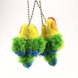6-8cm petit jouet coloré de peluche de perroquet