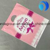 Kundenspezifischer Einkaufen-und Geschenk-Plastik gestempelschnittener Beutel