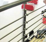 Barandilla de interior residencial de la escalera del balcón del acero inoxidable para las escaleras