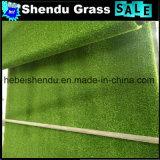Reto verde + relvado artificial do fio 25mm da onda de Brown