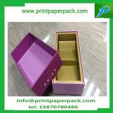 Contenitore impaccante pieghevole di lusso su ordinazione di vino del regalo della casella di carta di stampa in offset con l'inserto della gomma piuma