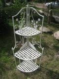 Blanc antique de vente chaud étagère en métal de coin de 3 couches