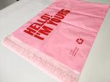 Zak van de Post van de Kleur van de douane de Roze Plastic Post met Afgedrukt Embleem