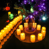 LEDの奉納の蝋燭の茶ライト