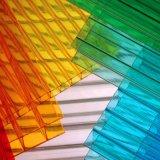 Feuille colorée enduite UV de polycarbonate, feuille de cavité de polycarbonate de Double couche