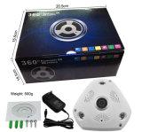 3megapixel 360 파노라마 IR 돔 WiFi IP 통신망 감시 카메라