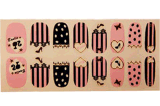 Lovely Design Waterproof Nail Art Stickers Autocollants pour ongles