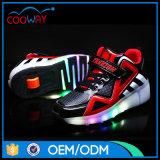 Оптовые ботинки конька ролика способа СИД мальчиков и девушок