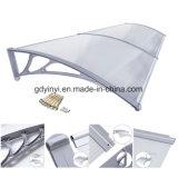 Al aire libre DIY plástico policarbonato toldo toldo balcón sombras de sol (yy1200-c)
