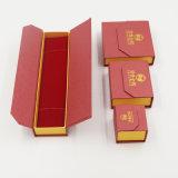 Fabrik-Großhandelssamt-Schmucksache-Kasten mit Leathrette Papier (J21-E)