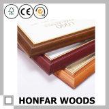 Marco de madera moderno de la foto del certificado de Brown para la decoración de escritorio