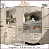 N&L autoguident le Module de cuisine blanc en bois solide de dispositif trembleur de couleur de meubles