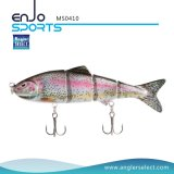 Topwater Multi Jointed Minnow Hard Fishing Lures Swimbaits 4 Seções Bass Salt & Fishing Water Fishing Bait (MS0410)