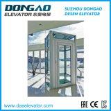 Ascenseur guidé en verre d'observation avec le bâti d'acier inoxydable